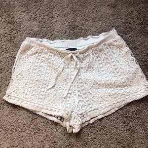Topshop whiteblace shorts size 6